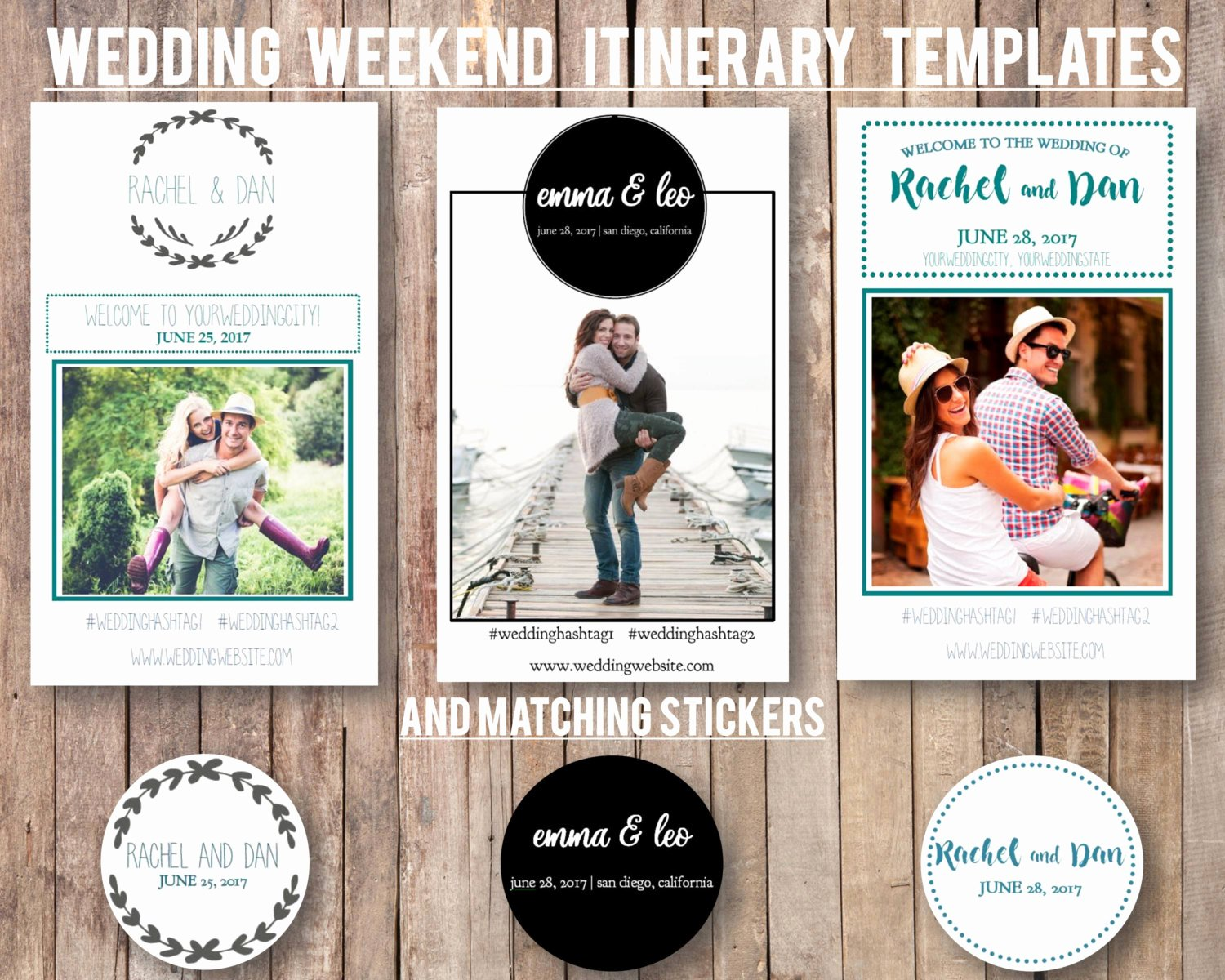 Wedding Weekend Itinerary Template Inspirational Wedding Weekend Diy Itinerary Schedule Template by