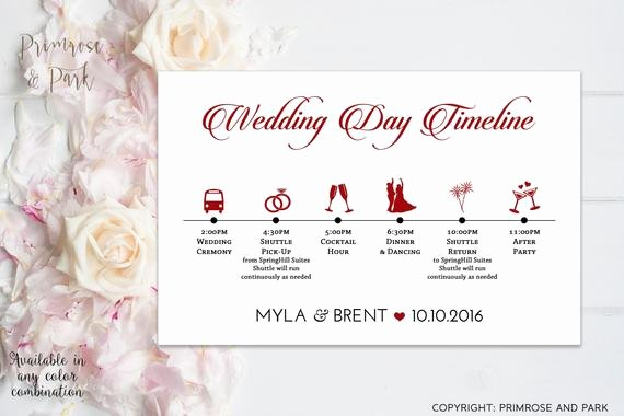 Wedding Weekend Timeline Template Awesome Wedding Timeline Cards Printable Wedding Day Itinerary