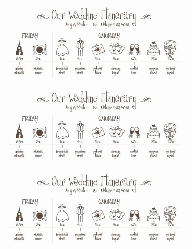 Wedding Weekend Timeline Template Beautiful Wedding Timeline Printable Digital File Schedule