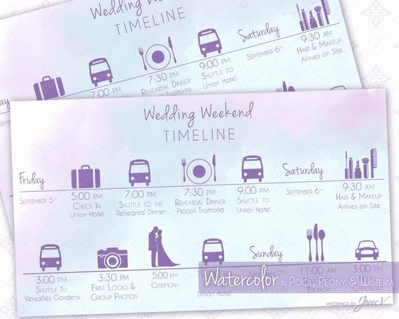 Wedding Weekend Timeline Template Best Of Wedding Timeline Printable Template Editable Wedding Weekend