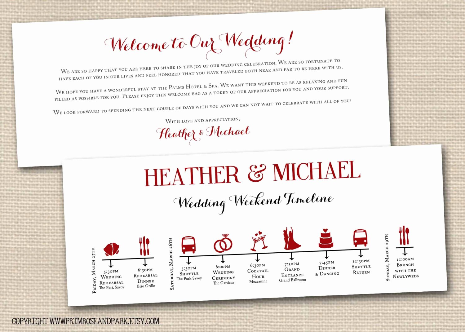 Wedding Weekend Timeline Template Best Of Wedding Weekend Timeline and Wel E Note by Primroseandpark