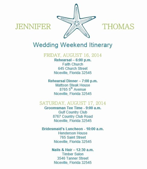 Wedding Weekend Timeline Template Elegant 25 Best Ideas About Wedding Itinerary Template On