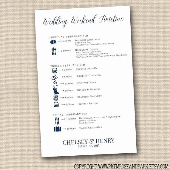 Wedding Weekend Timeline Template Fresh Wedding Timeline Cards • Wedding Weekend Timeline