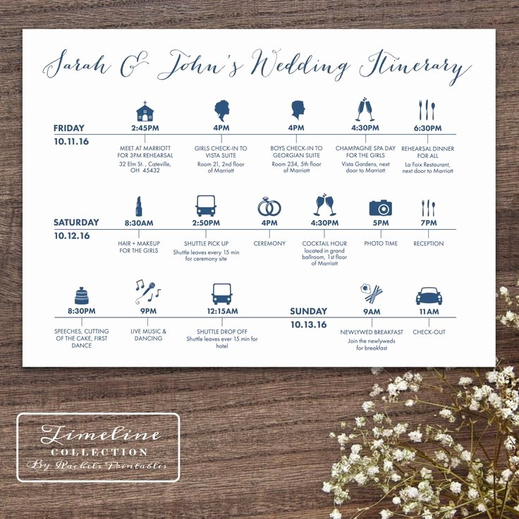Wedding Weekend Timeline Template Inspirational Best 25 Wedding Itinerary Template Ideas On Pinterest