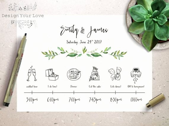 Wedding Weekend Timeline Template Inspirational Wedding Timeline Printable Wedding Itinerary Template