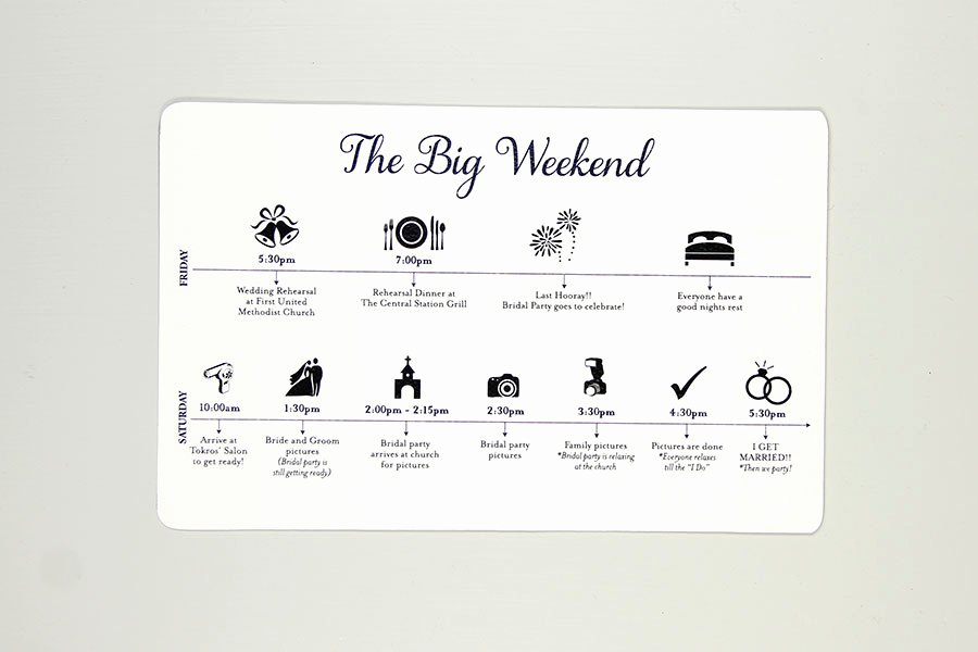 Wedding Weekend Timeline Template Luxury the Big Weekend Wedding Timelines Sets Of 30 – Nesting Project