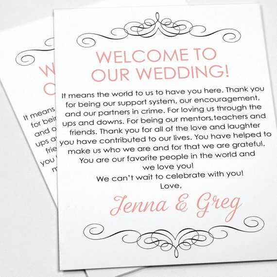 Wedding Welcome Letter Template Fresh Wel E Letter Wedding Letter Wedding Wel E Letter