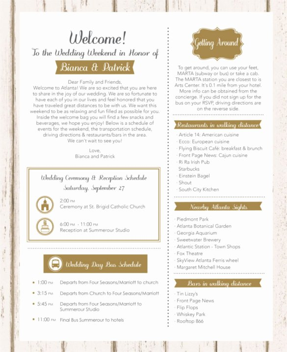 Wedding Welcome Letter Template Lovely 17 Wedding Template Doc Excel Pdf Psd Indesign