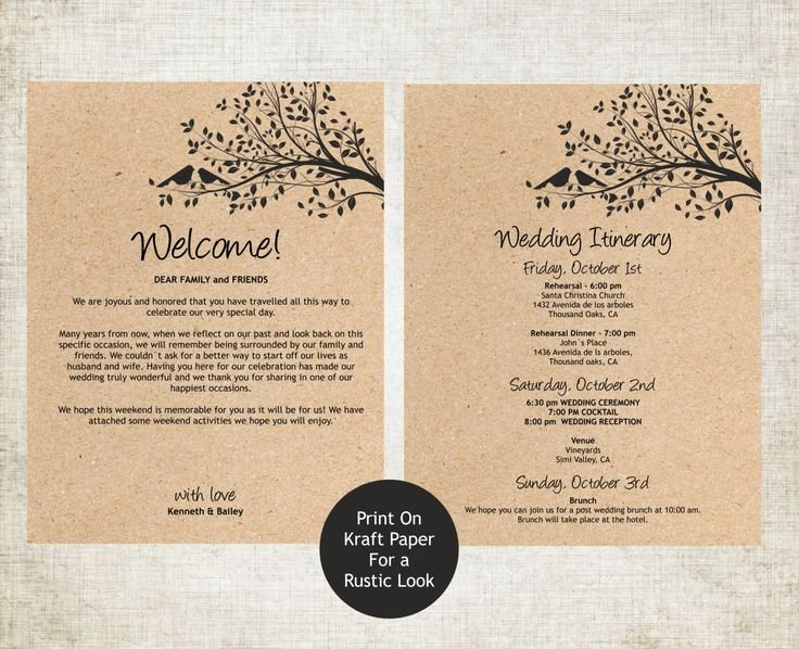 Wedding Welcome Letter Template Luxury Best 25 Wedding Itinerary Template Ideas On Pinterest
