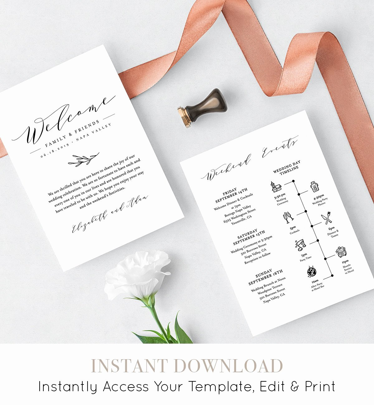 Wedding Welcome Letter Template Luxury Wedding Itinerary Wel E Letter Template Printable