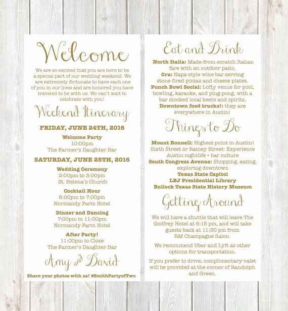 Wedding Welcome Letter Template Luxury Wel E Letter Weekend Itinerary Wedding Itinerary by