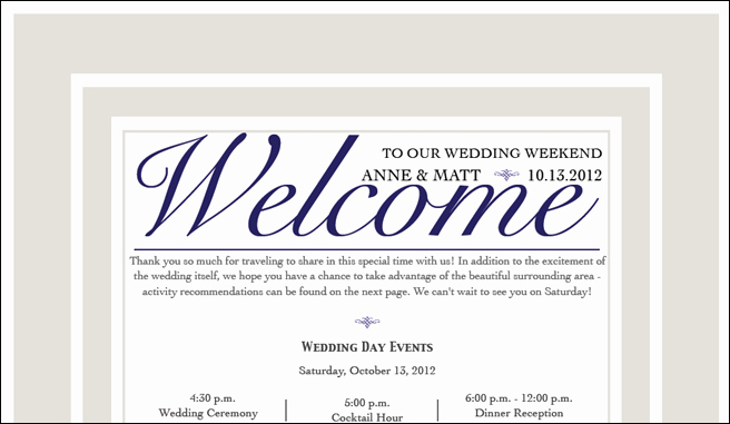 Wedding Welcome Letter Template Unique the Wedding is tomorrow Fannetastic Food