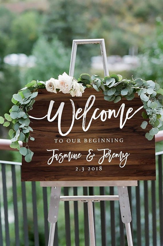Wedding Welcome Sign Template Awesome 5 Wedding Sign Templates Pdf