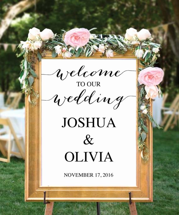 Wedding Welcome Sign Template Awesome Wedding Wel E Sign Template Editable Pdf Wel E to Our