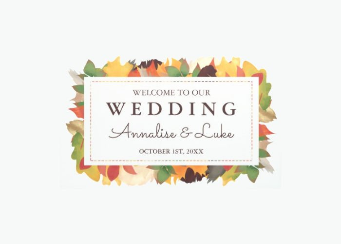 Wedding Welcome Sign Template Beautiful 9 Wel E Banner Designs