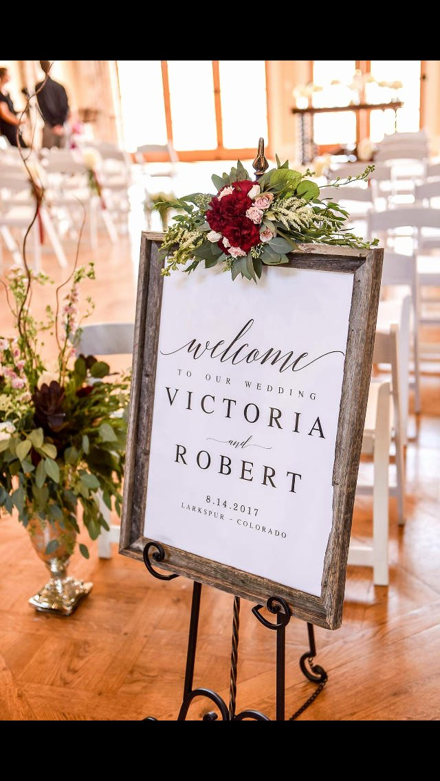 Wedding Welcome Sign Template Beautiful Elegant Wel E to Our Wedding Sign Template Wel E Wedding