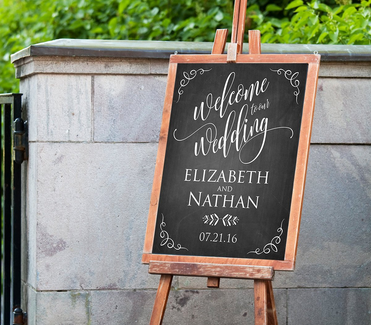 Wedding Welcome Sign Template Beautiful Printable Wedding Wel E Sign Template Rustic Chalkboard