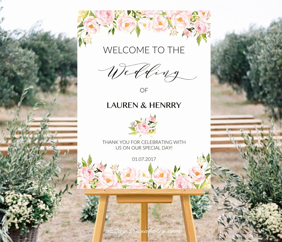 Wedding Welcome Sign Template Beautiful Printable Wedding Wel E Sign Templates Peony Wedding Sign
