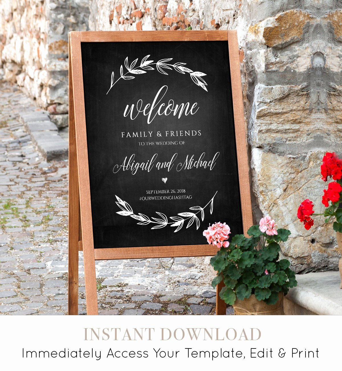 Wedding Welcome Sign Template Best Of Wedding Wel E Sign Template Chalkboard Wedding Poster