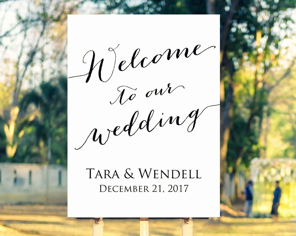 Wedding Welcome Sign Template Best Of Wel E to Our Wedding Sign Template Editable Template In