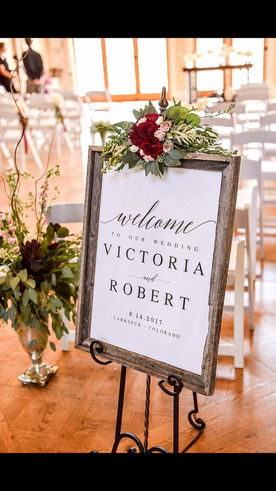 Wedding Welcome Sign Template Inspirational Elegant Wel E to Our Wedding Sign Template Wel E Wedding