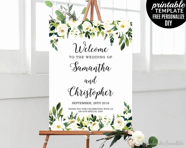 Wedding Welcome Sign Template New 290 Best Wedding Stationery Images On Pinterest