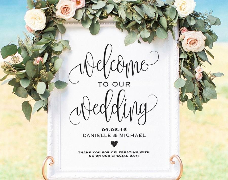 Wedding Welcome Sign Template New Wel E Wedding Sign Wel E Wedding Printable Wedding