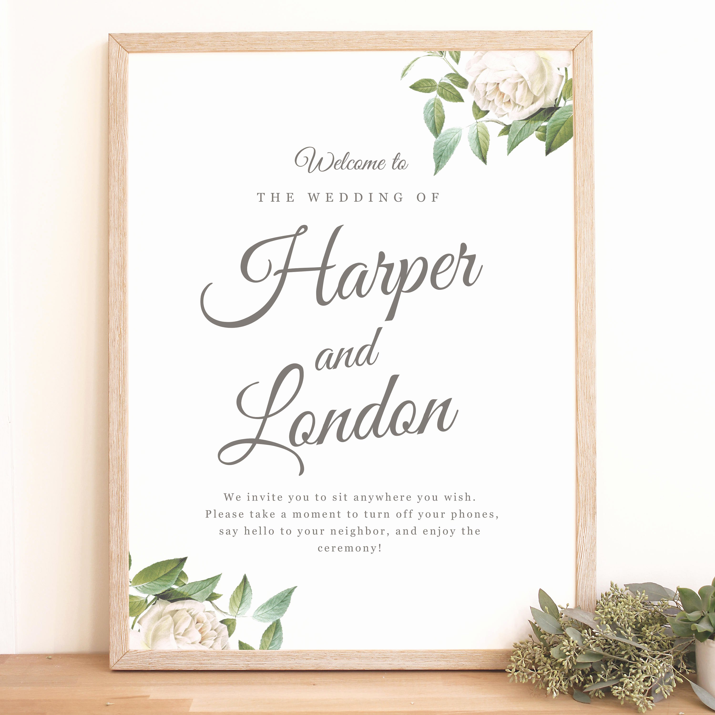 Wedding Welcome Sign Template Unique Instant Download Wedding Wel E Sign Template Ivory