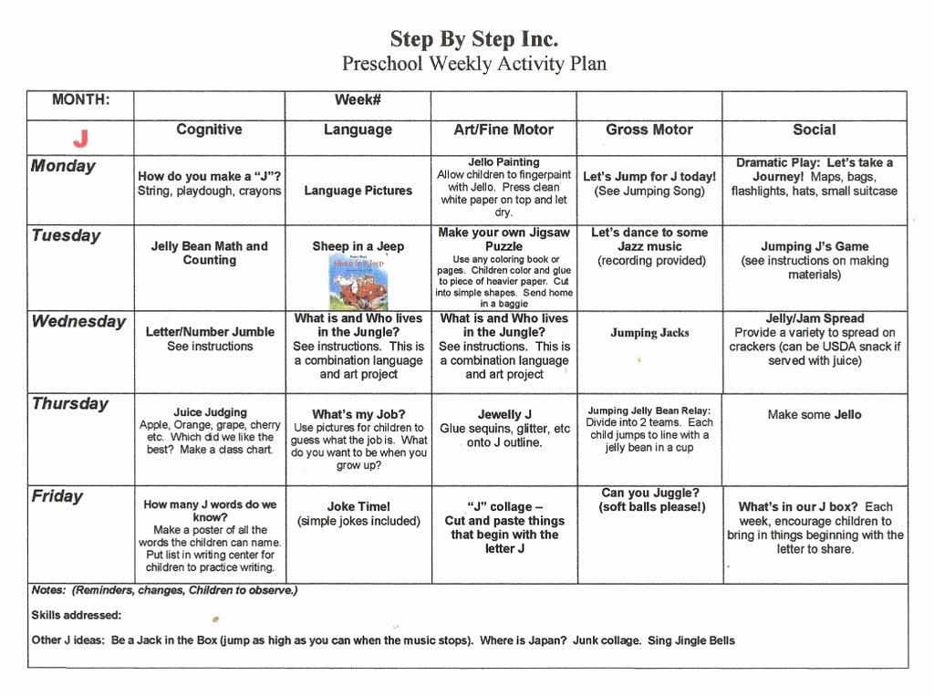 Week Lesson Plan Template Best Of Sample Math Lesson Plan for Preschoolers Lp