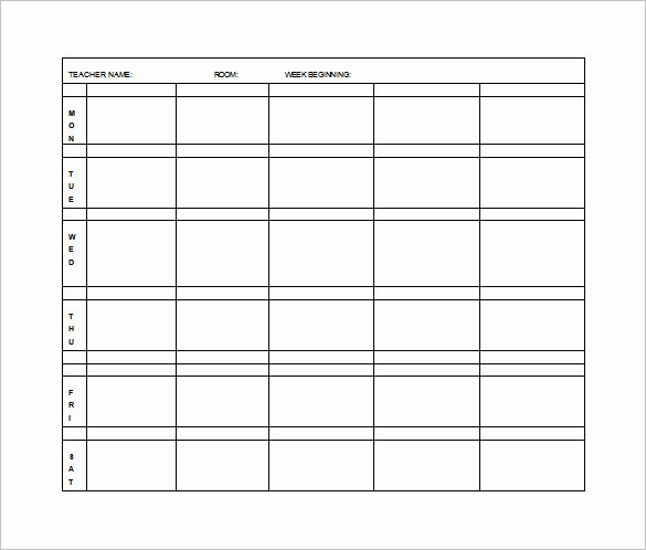 Week Lesson Plan Template Unique Elementary Lesson Plan Template 11 Free Word Excel