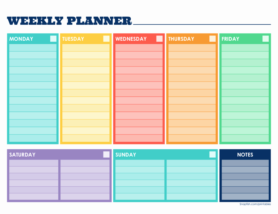 Week Schedule Template Pdf Awesome 2019 Weekly Planner Template Fillable Printable Pdf