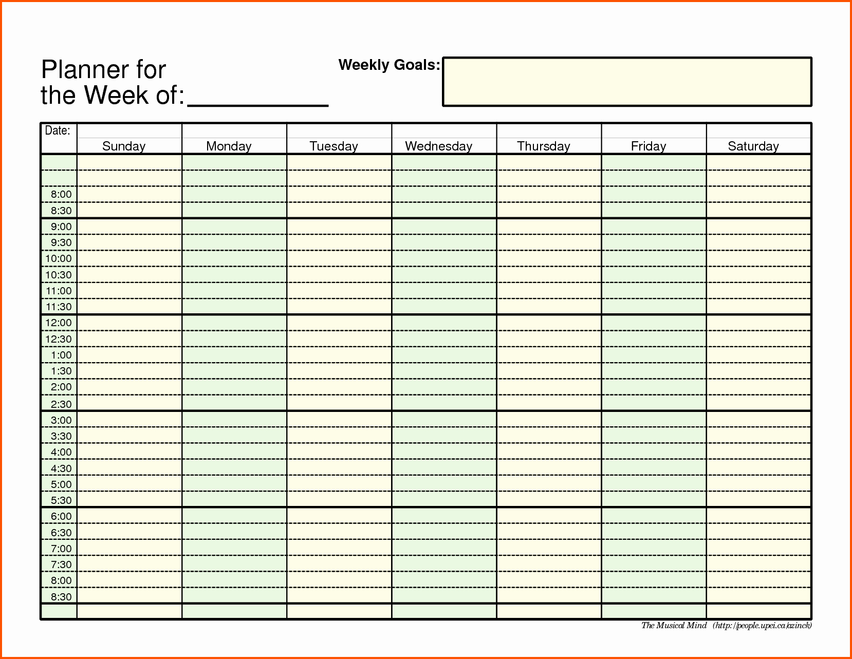 Week Schedule Template Pdf Awesome Weekly Schedule Template Pdf