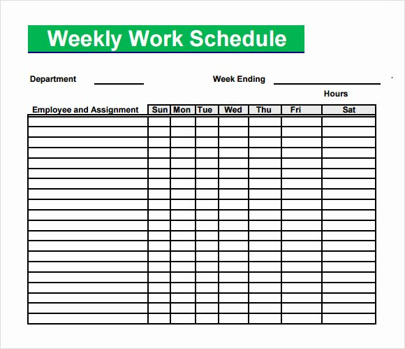 Week Schedule Template Pdf Inspirational Blank Schedule Template 6 Download Free Documents In Pdf