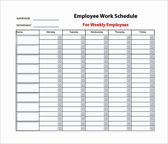 Week Schedule Template Pdf Inspirational Weekly Work Schedule Template Pdf