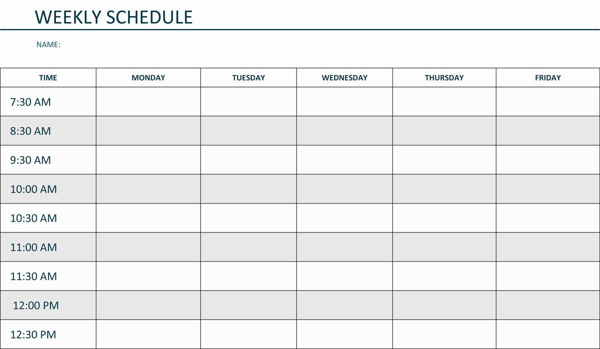 Week Schedule Template Pdf Lovely Template Weekly Schedule Template Weekly Schedule Template