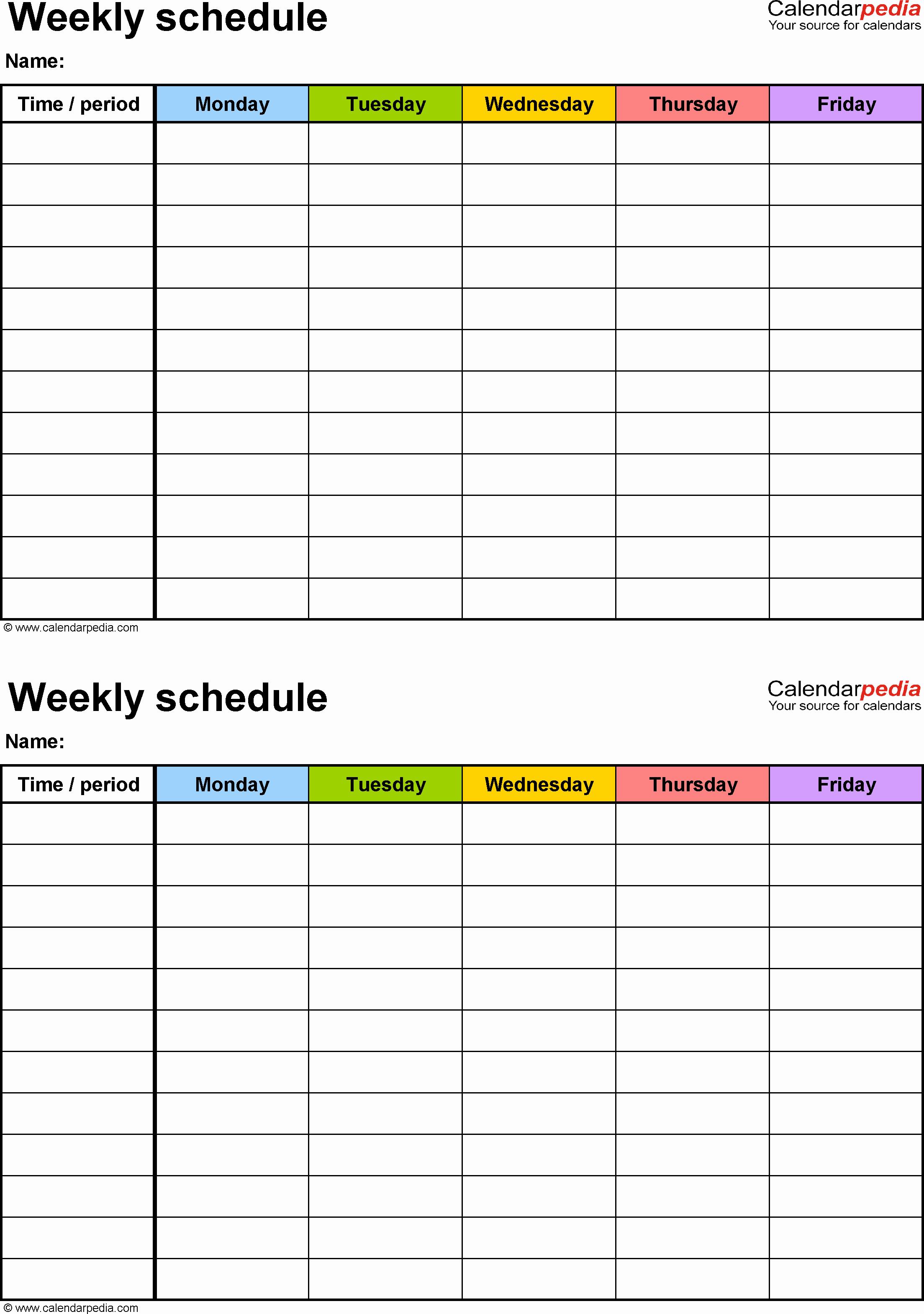 Week Schedule Template Pdf Luxury Weekly Schedule Template for Pdf Version 3 2 Schedules On