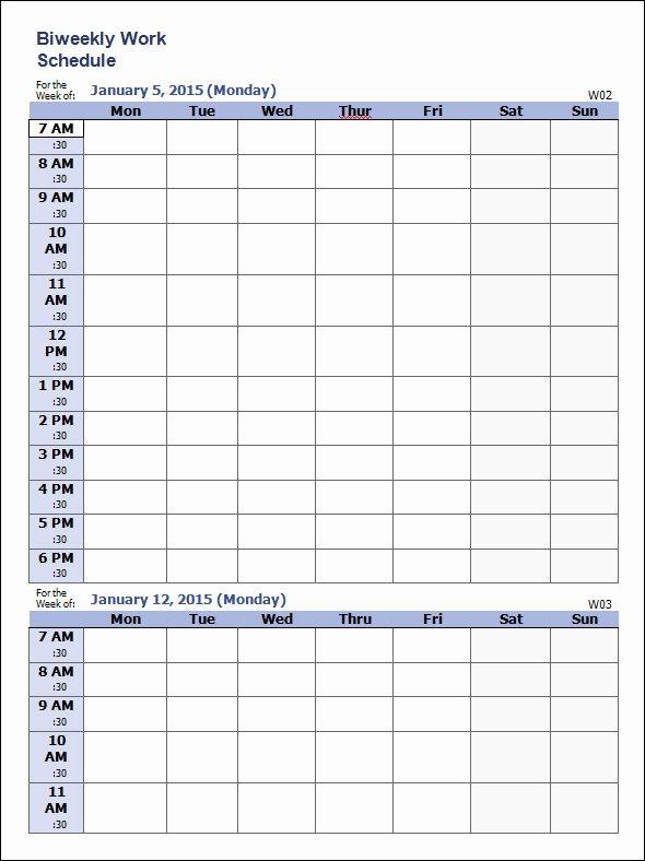 Week Schedule Template Pdf New 35 Sample Weekly Schedule Templates