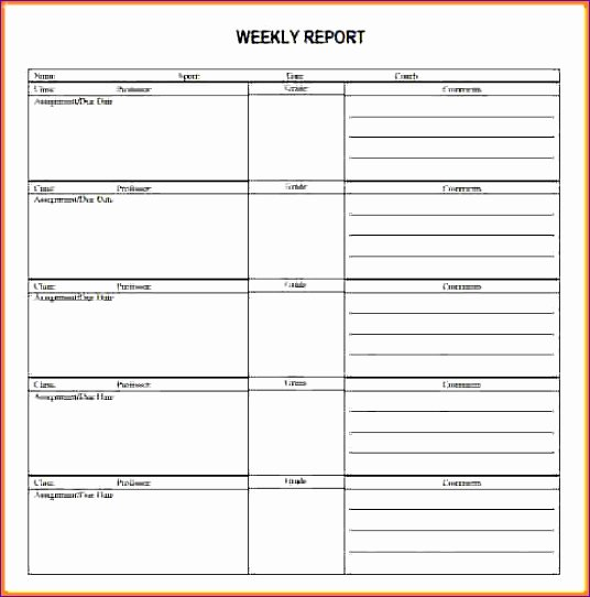 Weekly Activities Report Template New 10 Project Management Template Excel Free Exceltemplates