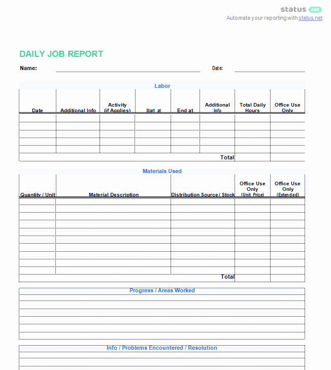 Weekly Activities Report Template Unique 3 Best Examples Daily Report Template