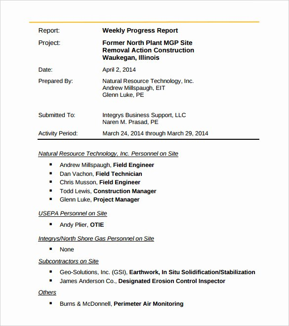 Weekly Activity Report Template Awesome 33 Weekly Activity Report Templates Pdf Doc