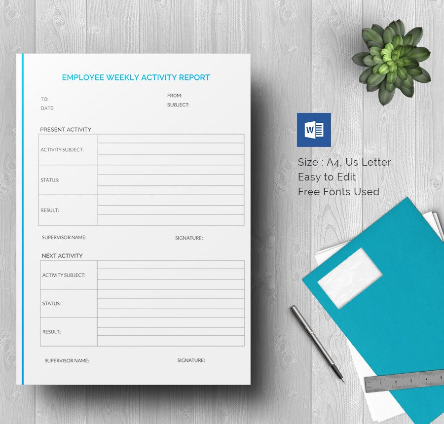 Weekly Activity Report Template Inspirational Weekly Activity Report Template 30 Free Word Excel