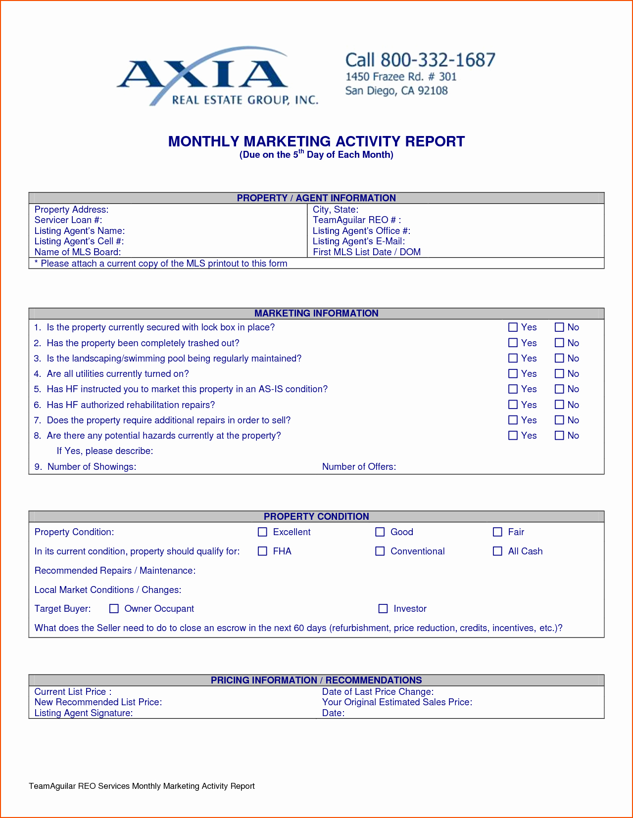 Weekly Activity Report Template Lovely 8 Weekly Activity Report Template Bookletemplate