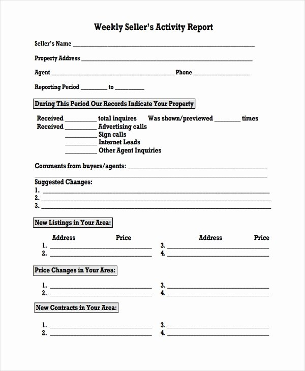 Weekly Activity Report Template New 41 Sample Weekly Report Templates