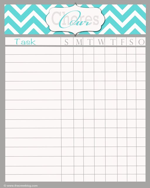 Weekly Chore Chart Template Fresh 5 Best Of Blank Printable Chore Charts Adult