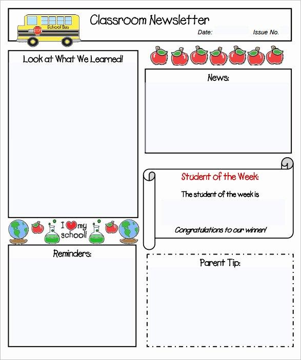 Weekly Classroom Newsletter Template Best Of 11 Kindergarten Newsletter Templates Free Sample