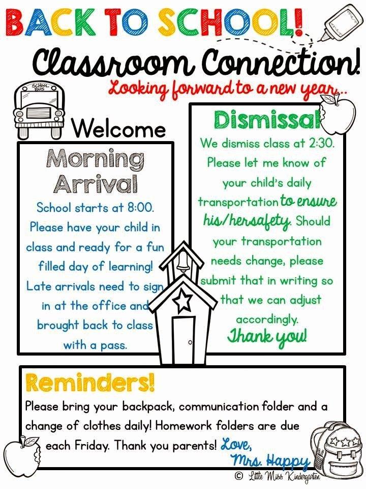 Weekly Classroom Newsletter Template Best Of Meet the Teacher My Classroom Pinterest