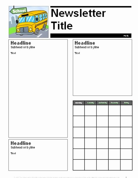 Weekly Classroom Newsletter Template Unique 17 Best Ideas About Parent Newsletter Template On