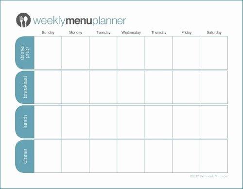 Weekly Dinner Menu Template Beautiful to Print Tpm E Week Menu Planner the Peaceful Mom
