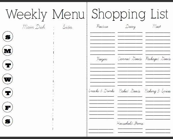 Weekly Dinner Menu Template Elegant Free Weekly Meal Planner with Grocery List – Fieldstation