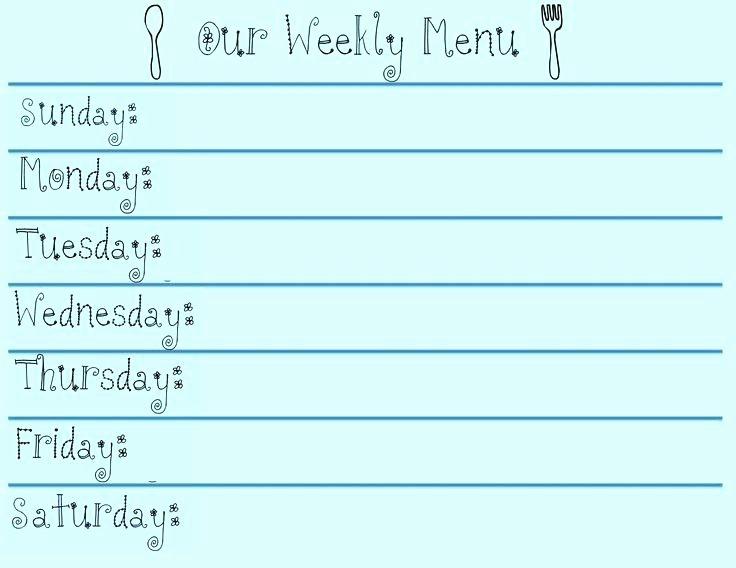 Weekly Dinner Menu Template Fresh Weekly Dinner Menu Planner Weekly Dinner Menu Planner